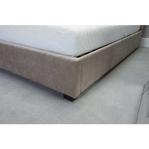13291 emporia kensington 4ft6 double stone fabric ottoman bed