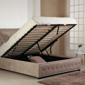 Strange Emporia Beds Ivory Cream Leather Madrid Ottoman Bed Pdpeps Interior Chair Design Pdpepsorg
